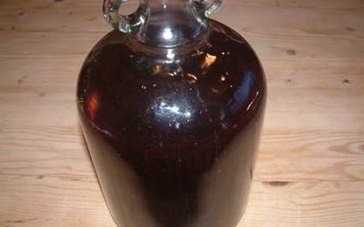 Damson 'Port' awaiting Bottling